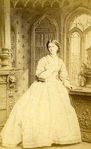 London Theater Actress Miss Leclerq Old CDV Photo Southwell 1864