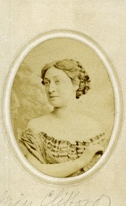 London Theater Actress Miss Clifford Old CDV Photo Southwell 1864