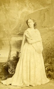 London Theater Actress Kate Saville Old CDV Photo Southwell 1864