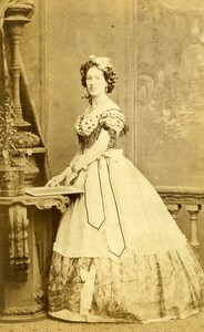 London Theater Actress Miss Arthur Swanborough Old CDV Photo Southwell 1864