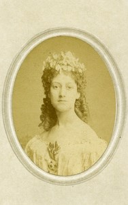 London Theater Actress Miss Denville Old CDV Photo Southwell 1864