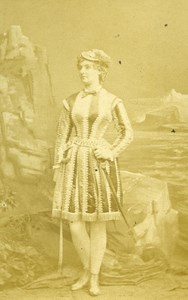 London Theater Actress Miss Sheridan Old CDV Photo Southwell 1864