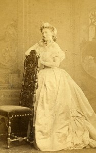 London Theater Actress Stella Colas Old CDV Photo Southwell 1864