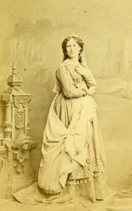 London Theater Actress Jane Caroline Carson Old CDV Photo Southwell 1864