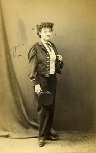 London Theater Actress Miss Sanger Old CDV Photo LSC 1864