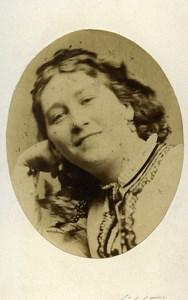 London Theater Actress Miss Latimar Julia Old CDV Photo Beau 1864