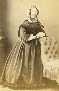 Mrs Buisson Wife Mayor of Bourgouin Old CDV Photo Durand 1865
