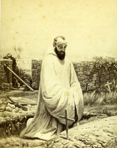 France Zouave Trappist by Horace Vernet Old Goupil CDV Photo of Painting 1865