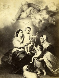 France Virgin of Seville by Murillo Old Goupil CDV Photo of Painting 1865