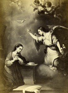 France The Anunciation painted by Murillo Old Goupil CDV Photo of Painting 1865