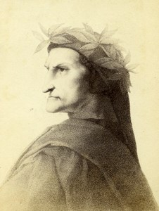 France Dante Painted by Raphael Old Goupil CDV Photo of Painting 1865