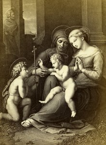 France Holy Family Benediction painted Raphael Goupil CDV Photo of Painting 1865
