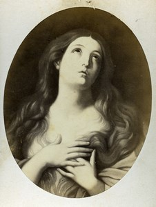 France Mary Magdalen by Guido Reni Old Goupil CDV Photo of Painting 1865