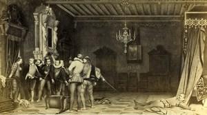 Assassination of the Duke of Guise Delaroche Goupil CDV Photo of Painting 1865