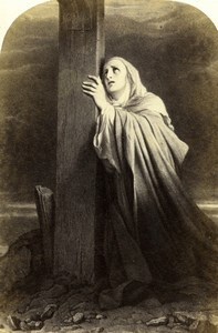 France Stabat Mater painted by Paul Delaroche Goupil CDV Photo of Painting 1865