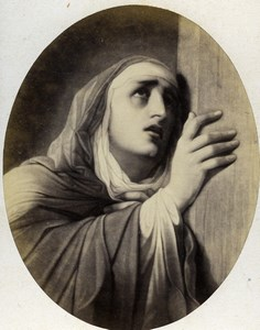 France Mater Dolorosa painted by P Delaroche Goupil CDV Photo of Painting 1865