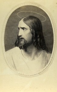 France Jesus Christ Portrait Old Goupil CDV Photo of Painting 1865