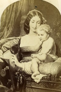 France Mother & Child Old Goupil CDV Photo of Painting 1865