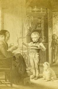 Germany Patience Test by Kretzschmer Old Christmann CDV Photo of Painting 1865