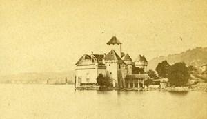 Switzerland Geneva Chillon Castle Lake Geneva Old CDV Photo 1865