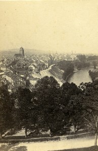 Switzerland Bern Panorama Old CDV Photo Adolphe Braun 1865