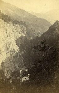 Switzerland Pfäfers Pfaeffers Valley Old CDV Photo Adolphe Braun 1865