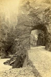 Switzerland Pfaeffers Gorge Pfäfers Old CDV Photo Adolphe Braun 1865