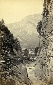 Switzerland Exit of Famina Mountain Old CDV Photo Adolphe Braun 1865