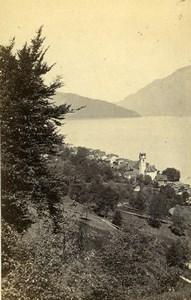 Switzerland Beckenried Lake of Quatre Cantons Old CDV Photo Adolphe Braun 1865