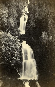 Switzerland Giessbach Waterfalls Old CDV Photo Adolphe Braun 1865
