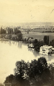 Switzerland Thun Countryside Panorama Old CDV Photo Adolphe Braun 1865