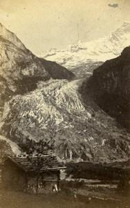 Switzerland Oberland Bernese Grindewald Glacier Old CDV Photo Adolphe Braun 1865