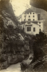 Switzerland Pfäfers Pfaeffers Valley Old CDV Photo Adolphe Braun 1865