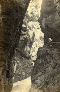 Switzerland Pfaeffers Gorge Pfäfers Old CDV Photo Adolphe Braun 1865