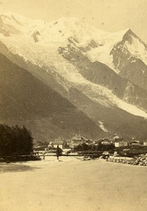 France Chamonix & Mont Blanc Old CDV Photo Tairraz Freres 1865