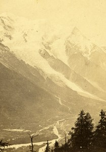 France Mont Blanc view taken from Flegere Old CDV Photo Tairraz Freres 1865