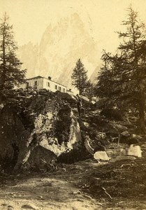 France Montanvert Alps Montenvers Old CDV Photo Tairraz Freres 1865