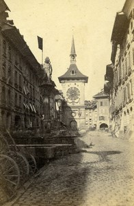 Switzerland Bern Clock Tower Old CDV Photo Adolphe Braun 1865
