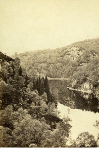 Scotland Loch Katrine Forest Lake Old CDV Photo GW Wilson 1865