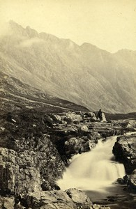 Scotland Ecosse Waterfalll in Glencoe Old CDV Photo GW Wilson 1865