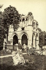 Scotland Ecosse Dryburgh Abbey Sir Walter Scott's Tomb Old CDV Photo Wilson 1865