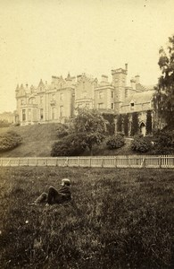 Scotland Ecosse Abbotsford the river front Old CDV Photo GW Wilson 1865