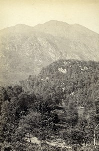 Scotland Ecosse the Pass of the Trossachs Old CDV Photo GW Wilson 1865