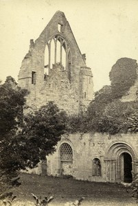 Scotland Ecosse Dryburgh Abbey Old CDV Photo Lennie 1865
