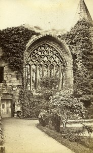 Scotland Ecosse Church Abbey ruins Old CDV Photo Archibald Burns 1865