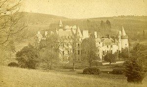 Scotland Ecosse Glamis Castle ? Old CDV Photo Patrick 1865