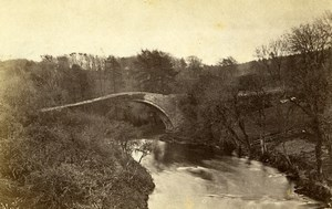 Scotland Ecosse Ayr countryside River Bridge Old CDV Photo Brewster 1865