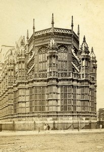 United Kingdom Westminster Abbey Henry VII Chapel Old CDV Photo York 1865