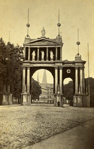 Germany Berlin Triumphal Arch Wilhelm I Franco Prussian War SPQB CDV Photo 1871