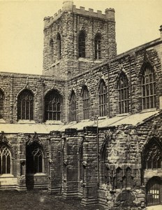 United Kingdom Chester Cathedral south front Old CDV Photo Bedford 1865